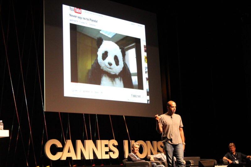 ali ali on stage panda youtube on cannes film festival