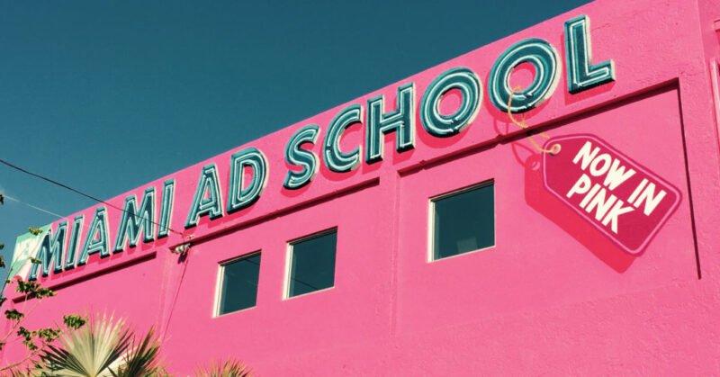 miami ad school in pink